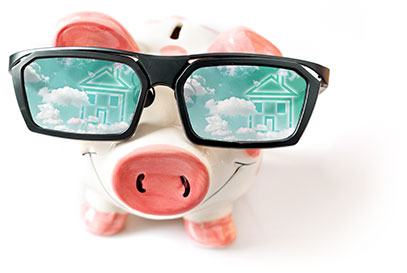 Pig, saving money, buying a home, renting a home